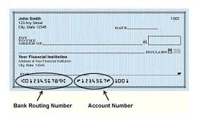 Direct Deposit Check Sample