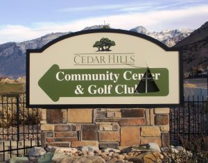 A new directional sign was vandalized twice after its installation on Canyon Road.