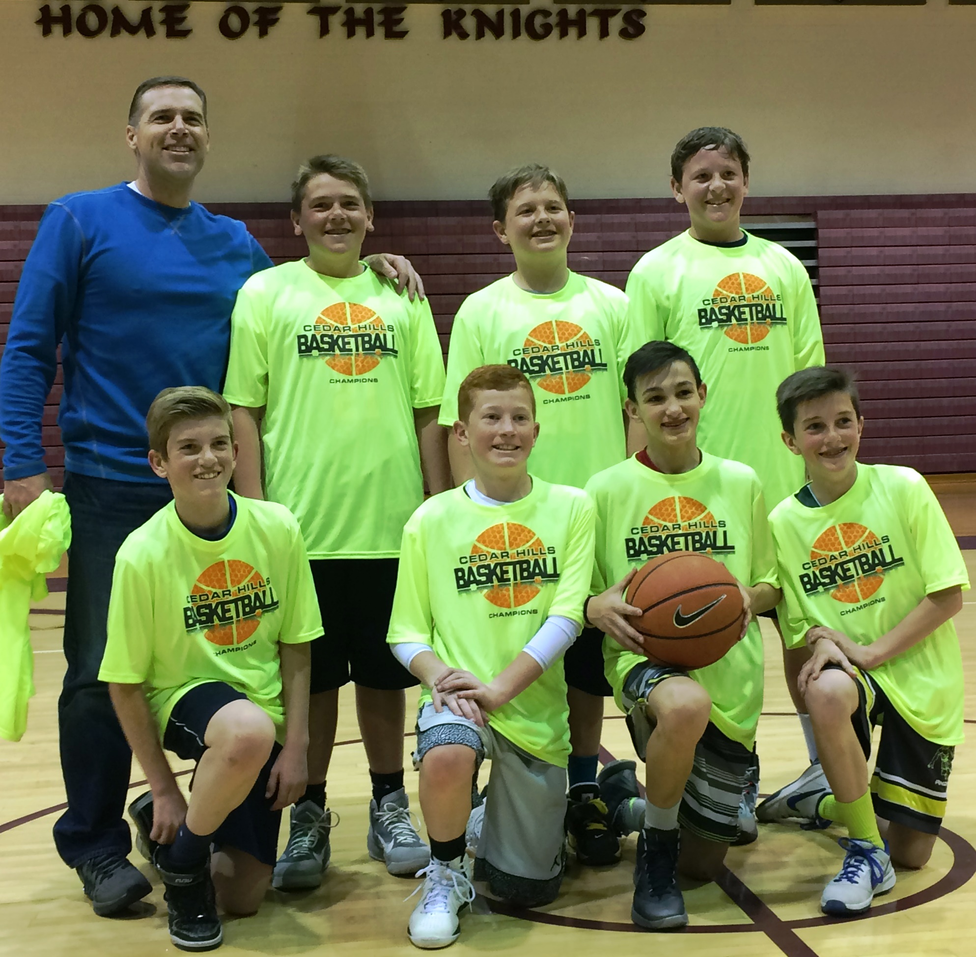 Cedar Hills 7th grade Jr. Jazz championship team