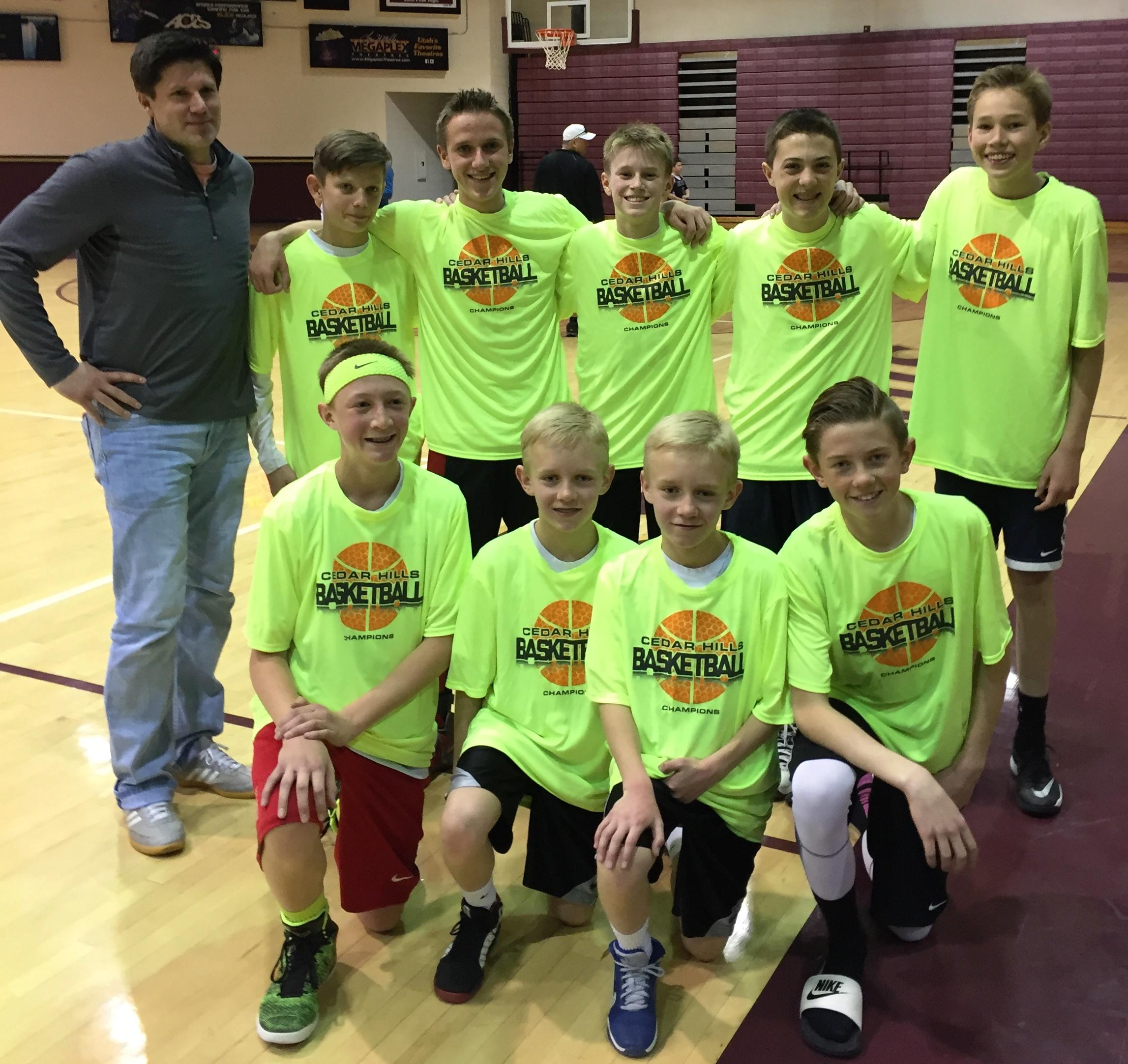 Cedar Hills 8th-9th grade Jr. Jazz championship team
